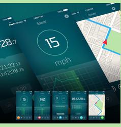 workout mobile application design vector image