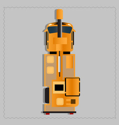 yellow construction vehicle vector image