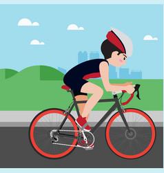 cycling athletic sport cartoon set vector image vector image