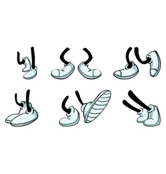 different legs with shoe vector image