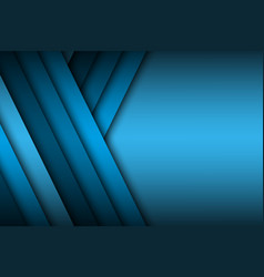 modern blue background overlap paper with blank vector image vector image