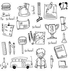 School education hand draw doodles vector image