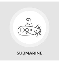 Submarine flat icon vector image