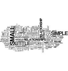 a little goes a long way text word cloud concept vector image vector image
