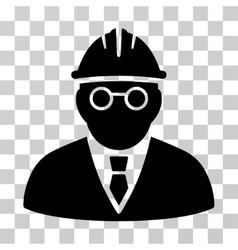 Clever engineer icon vector