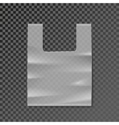 plastic bag blank template on transparent vector image