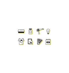screen printing icon sets vector image
