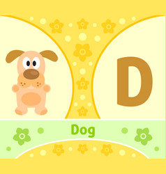 the english alphabet with dog vector image