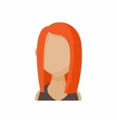 Avatar redhead woman icon cartoon style vector image vector image
