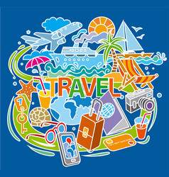 concept doodle for travel vector image
