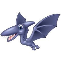 Happy pterodactyl cartoon vector image vector image