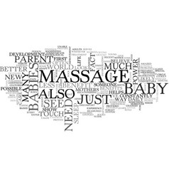 benefits of a baby massage text word cloud concept vector image vector image