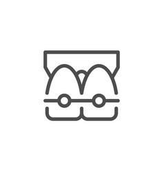 dental braces line icon vector image