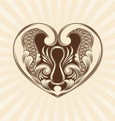 Love Ornamental vector image