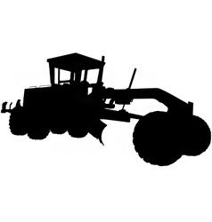 motor road grader silhouette vector image vector image