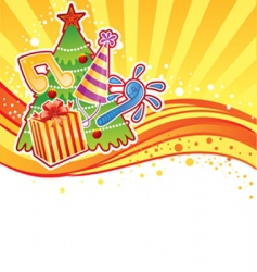 New Year image vector image