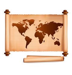 old map and old papers vector image