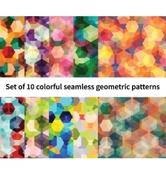 Set of 10 polygon patterns vector image vector image