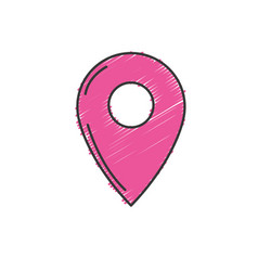 Symbol ubication to explore map location vector