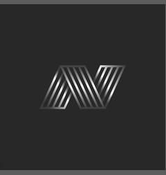 3d logo n letter creative monogram creative vector image