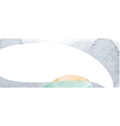 abstract banner with japanese wave pattern vector image