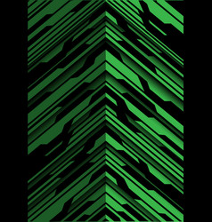 Abstract green black arrow circuit direction vector