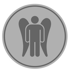 angel silver coin vector image