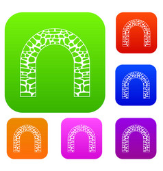 arch set collection vector image