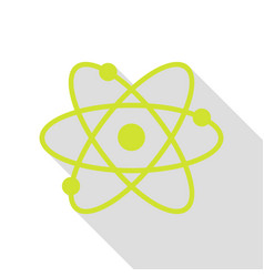 atom sign pear icon with flat style vector image