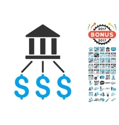 Bank Payments Icon With 2017 Year Bonus Symbols vector