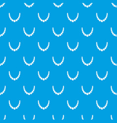 bead pattern seamless blue vector image