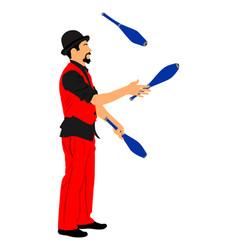 Birthday animator juggler entertainment for kids vector