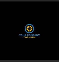 Blue lemon logo design vector