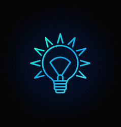 blue light bulb icon vector image