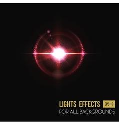 Bright sunlight lens glass light effect vector image