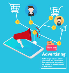 Business concept advertising online marketing vector