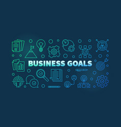 Business goals colorful or banner in vector