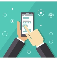 Business Smartphone Applications vector image