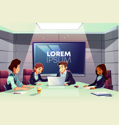 Business team meeting in conference room vector