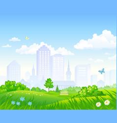 Cartoon city park vector