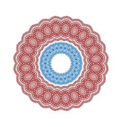 Circle vignette lace ornaments set vector image