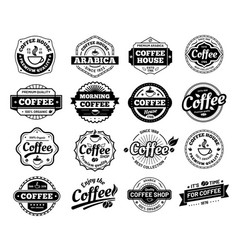 coffee badges cafe logo stamp sticker restaurant vector image