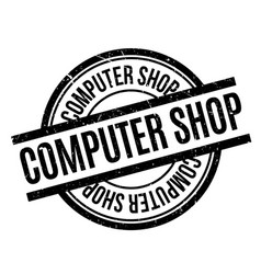 Computer shop rubber stamp vector
