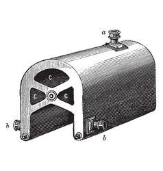 Cruciform saddle boiler vintage vector