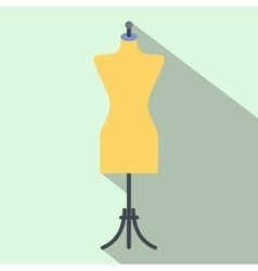 Dressmaker model flat icon vector image
