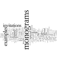 Examples monograms vector
