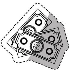 figure bills dollars currency vector image