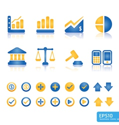 Finance and business icon set vector image vector image