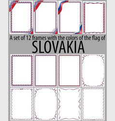 Flag v12 slovakia vector