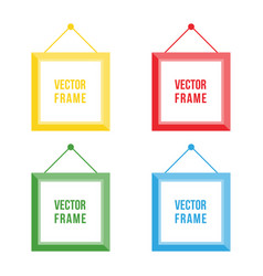 Flat design colorful picture frame set collection vector